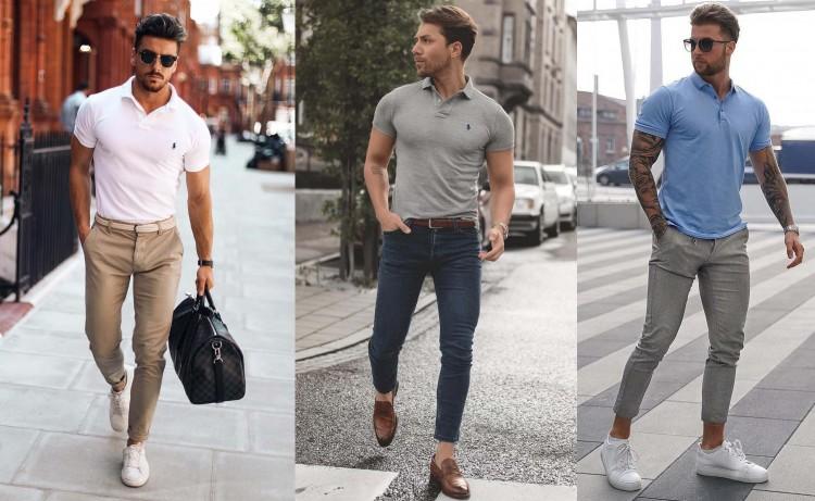 Áo thun Polo nam mặc với quần & giày gì: Không quá khó để chọn lựa!