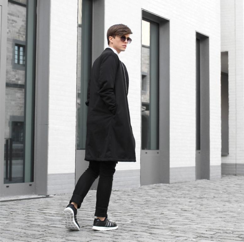 mix đồ mùa đông với giày thể thao